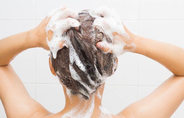 غسيل الشعر